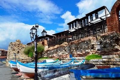 Рибарски лодки в Стария Несебър