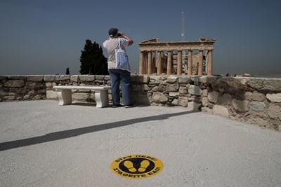 Кадър от Акропола в Атина: Ройтерс
