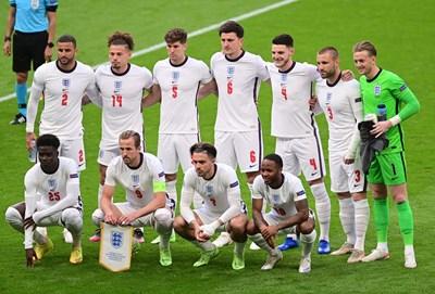 Стартовите 11 на Англия за последния трети мач от груповата фаза на Евро 2020 - победата с 1:0 над Чехия. СНИМКИ: РОЙТЕРС
