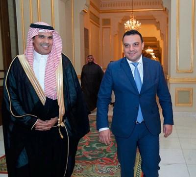 Набил бин Мохамед Ал-Амуди и Ивайло Московски Снимки: Пресслужба на Министерски съвет