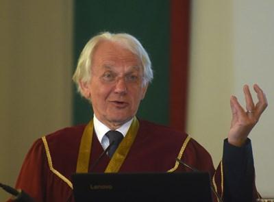 Проф. Жерар Муру - носител на Нобелова награда за физика за 2018 г. СНИМКА: Велислав Николов