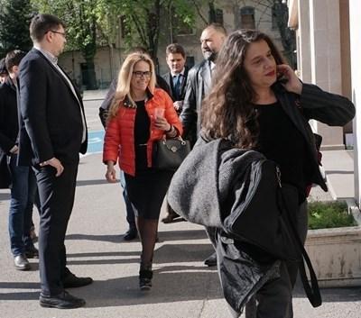 Десислава Иванчева вчера бе в добро настроение. Снимка: Десислава Кулелиева