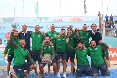 Снимка: Фейсбук на националния отбор по плажен футбол