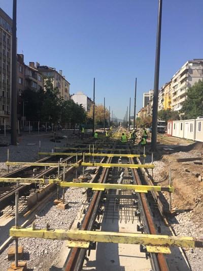 Реконструкцията на релсовия път на трамвайна линия 5 СНИМКА: СТОЛИЧНА ОБЩИНА
