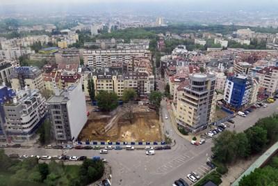 """Цените на жилищата в  софийския """"Лозенец"""" падат  """"Лозенец"""" се застроява все по-нагъсто и това сваля средната цена на жилищата там. СНИМКА: Пиер Петров"""