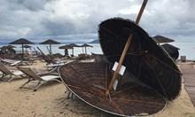 Виж снимки от опустошителната буря в Халкидики, вихрила се със 110 км/час