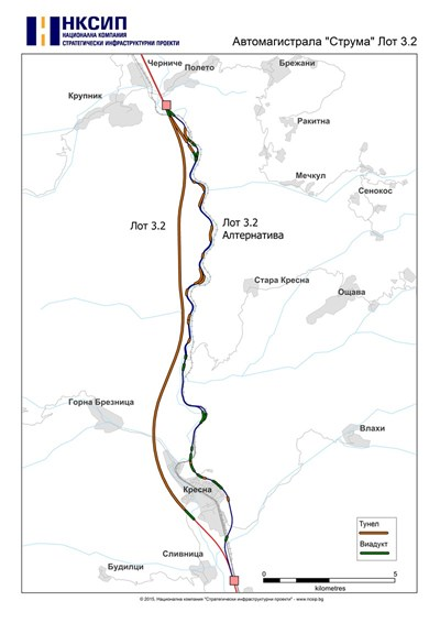 """Картата с дългия тунел и новите съоръжения бе начертана от експерти на Националната компания """"Стратегически инфраструктурни проекти"""" по молба на """"24 часа""""."""