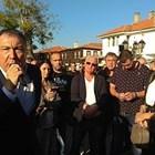 Николай Димитров на импровизиран митинг днес в Несебър. Снимка:Елена Фотева