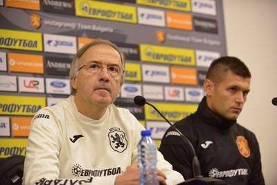 Георги Дерменджиев обяви на пресконференцията преди дебюта се начело на България, че отборът има няколко пъти по-висок потенциал от показвания до момента.  СНИМКИ: ЙОРДАН СИМЕОНОВ