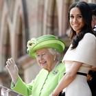 Кралицата с Меган през 2018 година Снимка: Официалният профил на Бъкингамския дворец в туитър