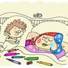 Нищо не разкрасява спяща жена така, както седящо до нея малко дете с флумастери.