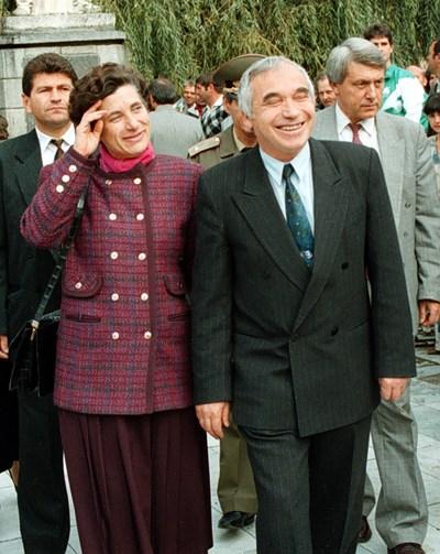 Президентското семейство Мария и Желю Желеви