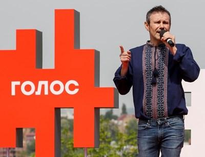 Украинската рок звезда Святослав Вакарчук СНИМКА: Ройтерс