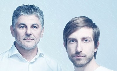 Theodosii Spassov (left) with a public album by Ivan Schopenov