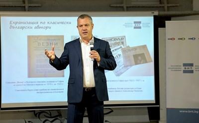 Емил Кошлуков по време на представянето на новата конкурсна сесия за филмопроизводство СНИМКА: Десислава Кулелиева