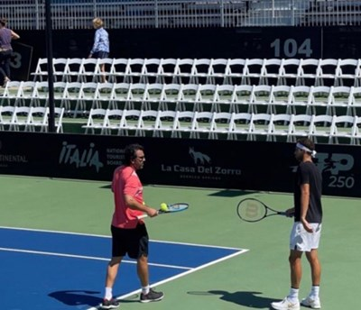 Григор Димитров и Данте Ботини направиха първи тренировки в Сан Диего.