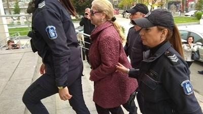 Веселина Г. в съда през април 2018 г. СНИМКА: Елена Фотева