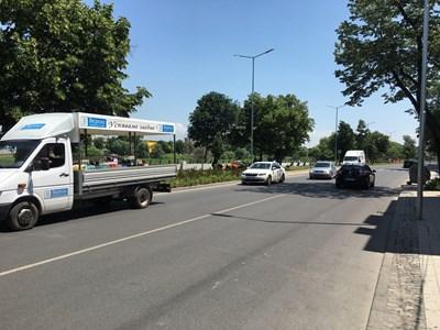 """Обновеният бул. """"Марица-юг"""" става пешеходна променада в неделните летни дни. Снимки: Авторът"""