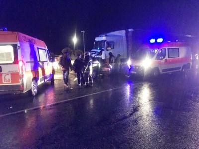 Катастрофата на обходния път на Враца през декември 2017 г. Снимка от архива на автора.