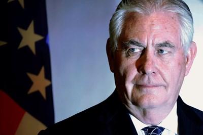 Държавният секретар на САЩ Рекс Тилърсън СНИМКА: Ройтерс