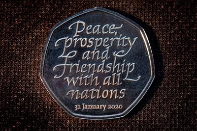Монетата, посветена на Брекзит СНИМКА: Ройтерс