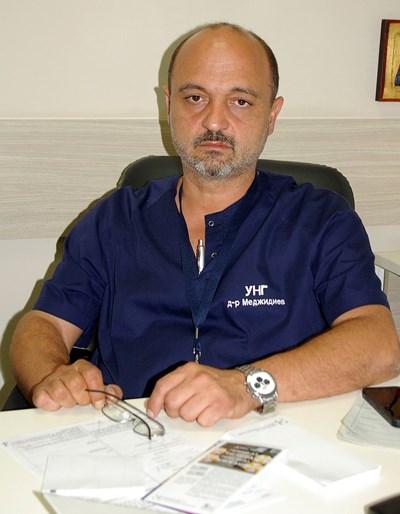 Д-р Асен Меджидиев, председател на Столичната лекарска колегия към БЛС