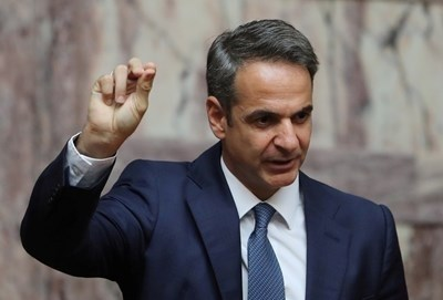 Гръцкият премиер Кириакос Мицотакис СНИМКА: РОЙТЕРС
