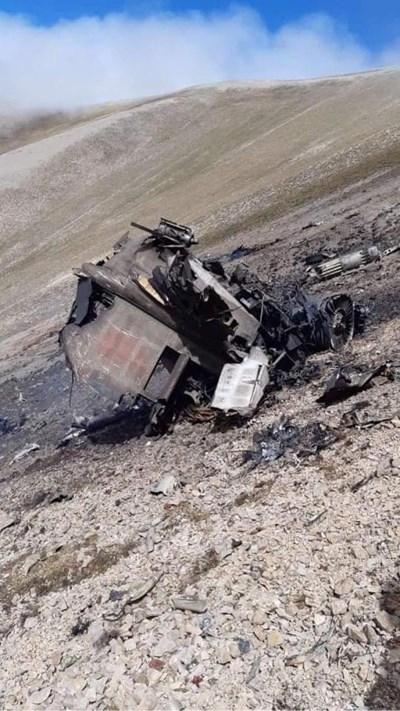 Армения разпространи снимки на сваления Су-25. СНИМКА: РОЙТЕРС