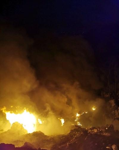 Пожар на сметището в Костинброд СНИМКА: Авторът