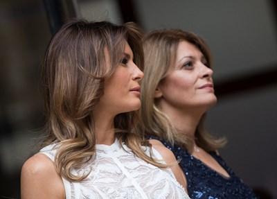 Мелания Тръмп и Десислава Радева Снимки: Ройтерс