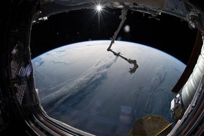 Поглед към Земята от Международна космическа станция