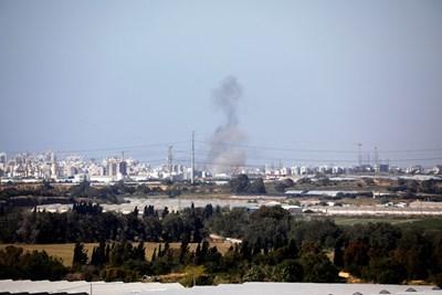 Границата на Израел и ивицата Газа  СНИМКА: Ройтерс