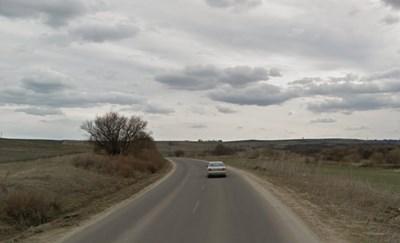 Пътят между Раднево и Гълъбово Снимка: Google street view