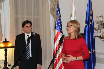 Екатерина Захариева във Вашингтон СНИМКИ: МВнР