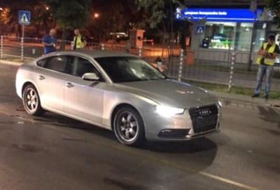 Това е колата на 62-годишната Лиляна минути след инцидента.