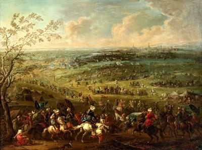Турците пред Виена. Картина от австрийския художник Аугуст Кюпфурт. 1750 г.