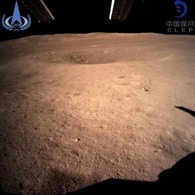 Първи кадри от обратната страна на Луната от януари 2019 г.  Снимка: China National Space Administration