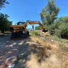 Възстановяват скъсана дига на напоителен канал край с. Сарая, община Пазарджик