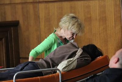 Герман Костин чу най-тежката присъда на първа инстанция на 16 юли м.г. на носилка. СНИМКА: Благой Кирилов