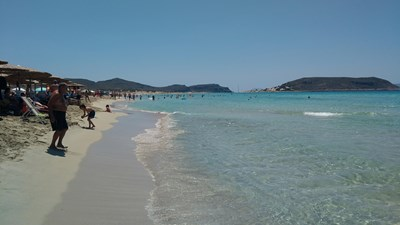 """Плаж в Гърция СНИМКА: """"24 ЧАСА"""""""