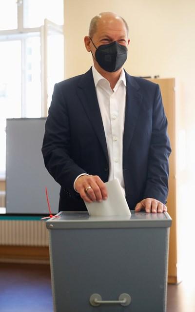 Настоящият финансов министър на Германия Олаф Шолц от Социалдемократическата партия СНИМКА: РОЙТЕРС