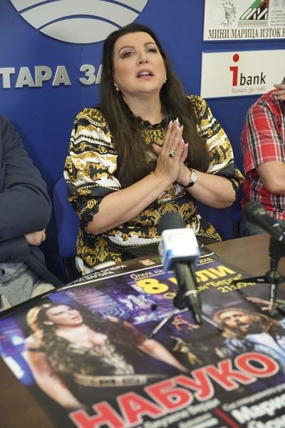 Руската оперна прима Мария Гулегина избра Стара Загора за първата си изява на българска сцена. СНИМКА: АРХИВ НА ОПЕРАТА