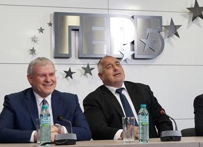 Бойко Борисов и лидерът на СДС Румен Христов си партнираха и по време на евроизборите.