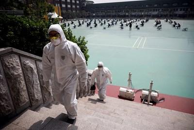 Южна Корея съобщи днес за 19 нови заразени с коронавируса и двама починали през последното денонощие СНИМКА: Ройтерс