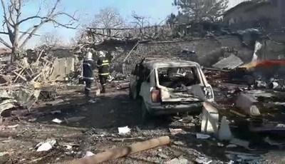 Трагичният инцидент в село Хитрино е в резултат на обемна детонация.