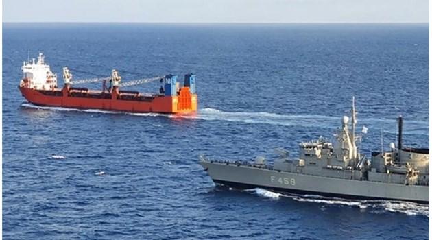 Гръцки спецчасти са взели на абордаж руски товарен кораб