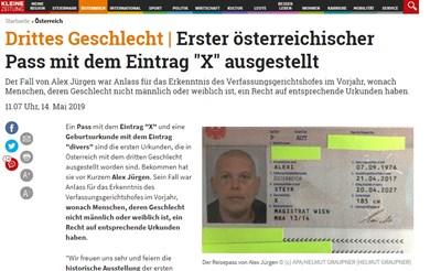 Факсимиле: kleinezeitung.at