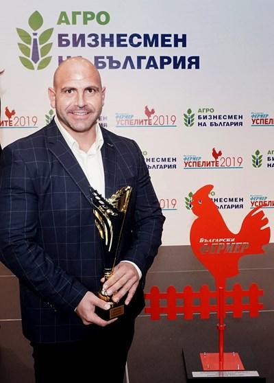 """Станчо Станчев бе отличен с голямата награда """"Агробизнесмен на България"""" на тазгодишния конкурс."""