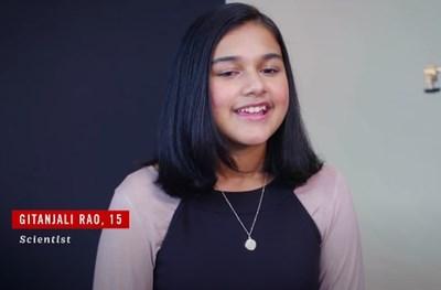 """Гитанджали Рао беше избрана за първото Хлапе на годината на сп. """"Тайм"""" КАДЪР: Youtube/Time"""