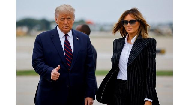 Мелания за пръв път е позитивна около президента Тръмп